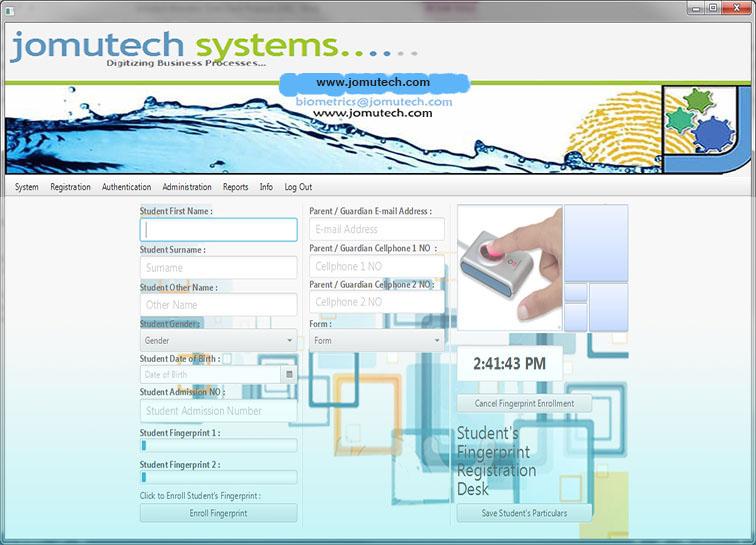 Biometric Student Fingerprint Registration Desk Module Code