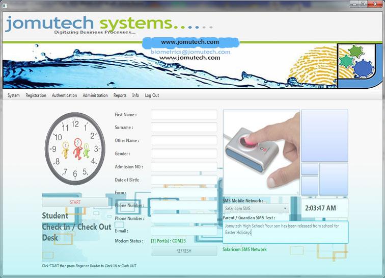 Biometric Student Track System