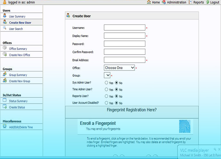 Registering Staff on PHP Biometric Time and Attendance