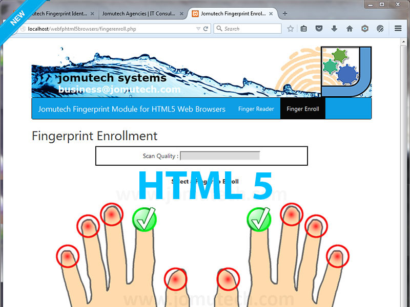 HTML5 Web Biometric Authentication for Firefox, Chrome