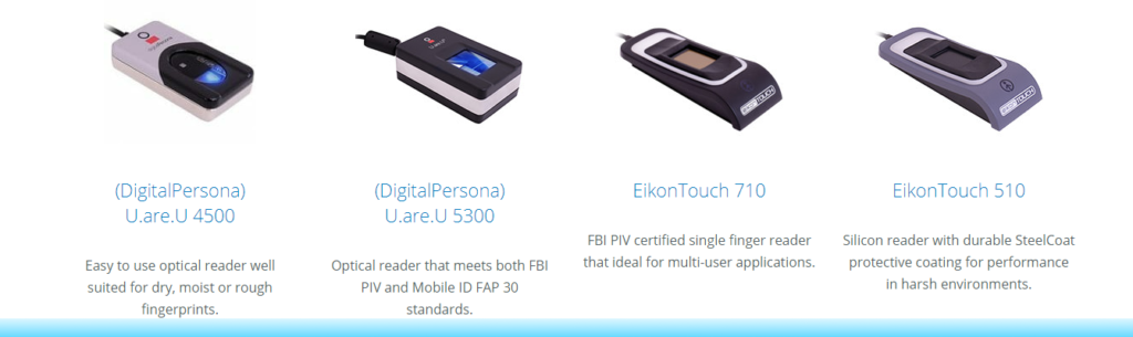 Recommended Biometric Fingerprint Scanners