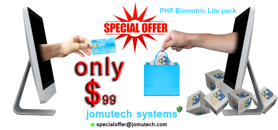 PHP Biometrics Authentication Lite pack