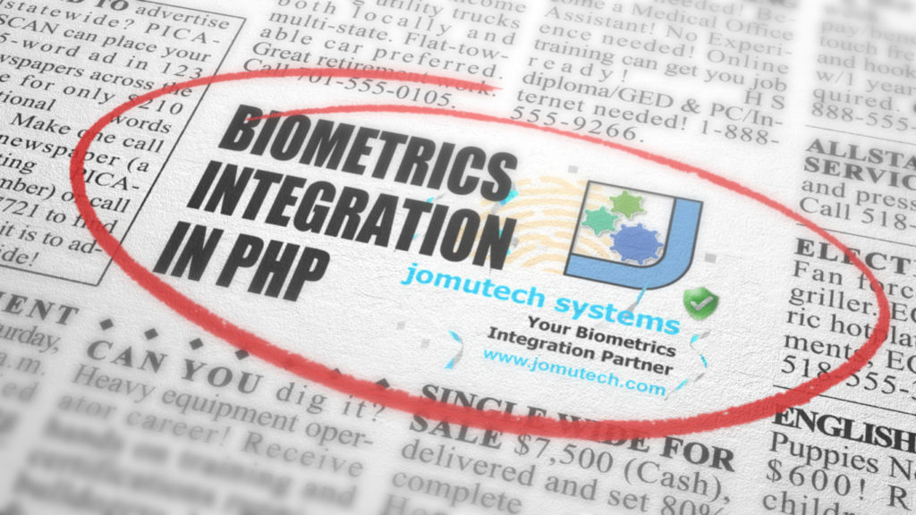 PHP Web Biometric Authentication Silver PACK Solution