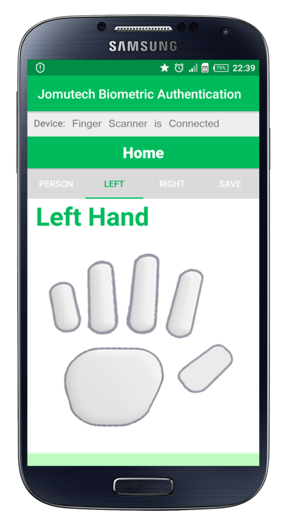Android Biometric Fingerprint Authentication Left Hand Before Enrolling Fingerprint