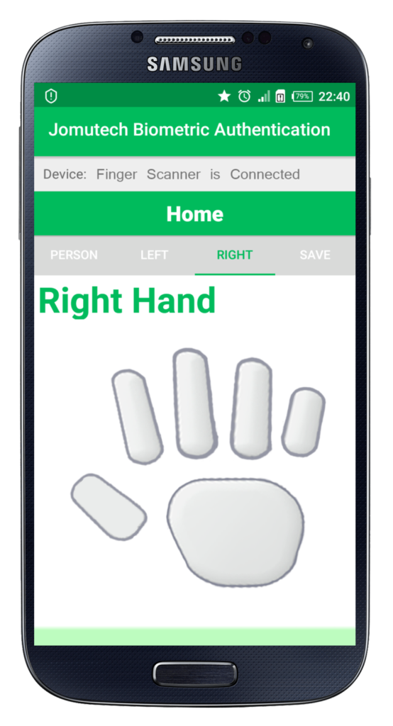 Android Biometric Fingerprint Authentication Right Hand Before Enrolling Fingerprint