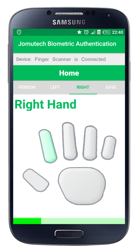 Android Biometric Fingerprint Authentication Right Hand While Enrolling Fingerprint