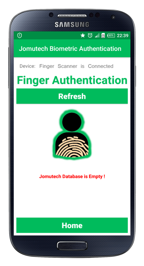 Android Biometric Fingerprint Authentication Database is Empty