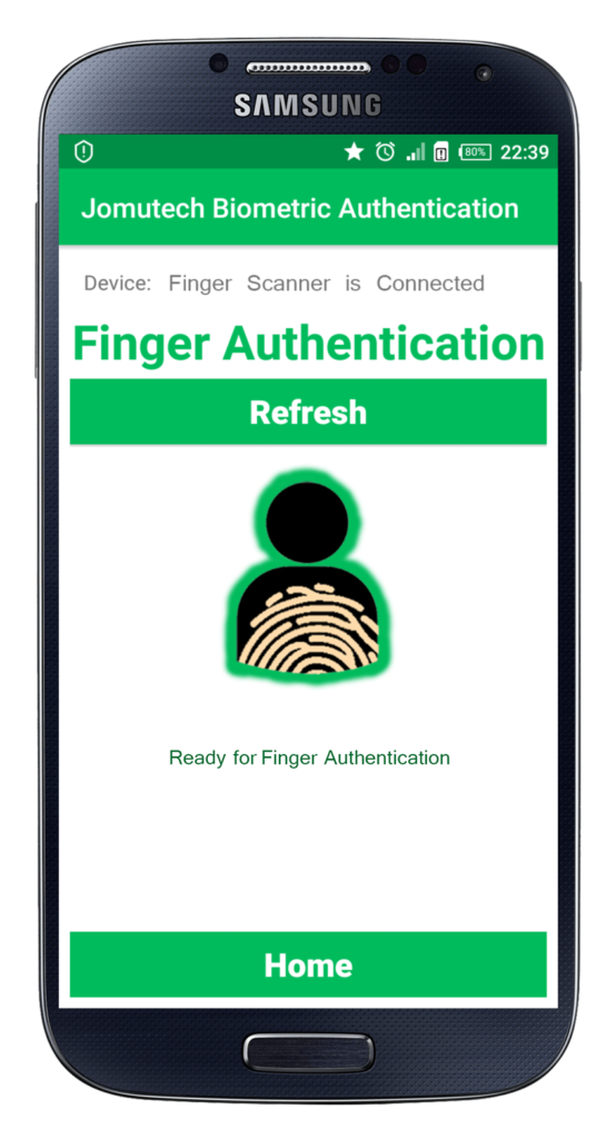 Android Biometric Fingerprint Authentication Person Database is Populated
