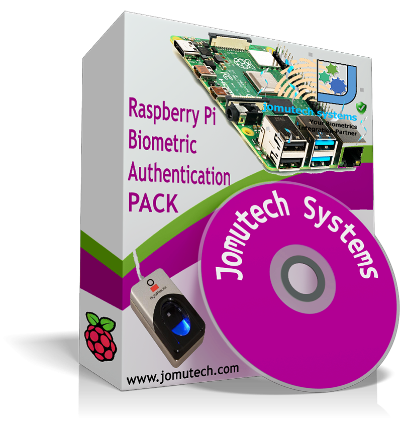 Raspberry Pi Biometric Authentication PACK using Digital Persona Fingerprint Scanner